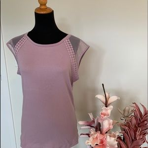Cleo T-Shirt with lace sleeves size M
